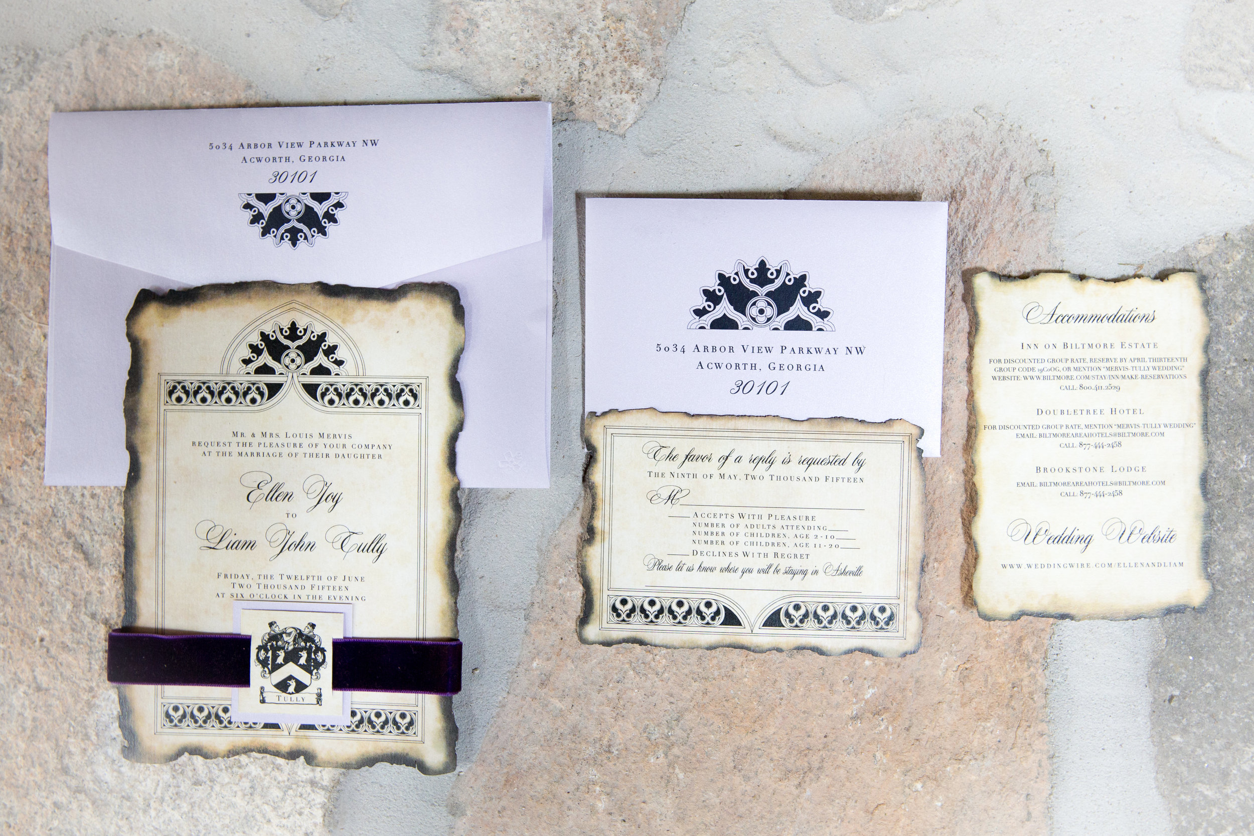 Ellen and Liam's Invitation Suite | Realities Photography