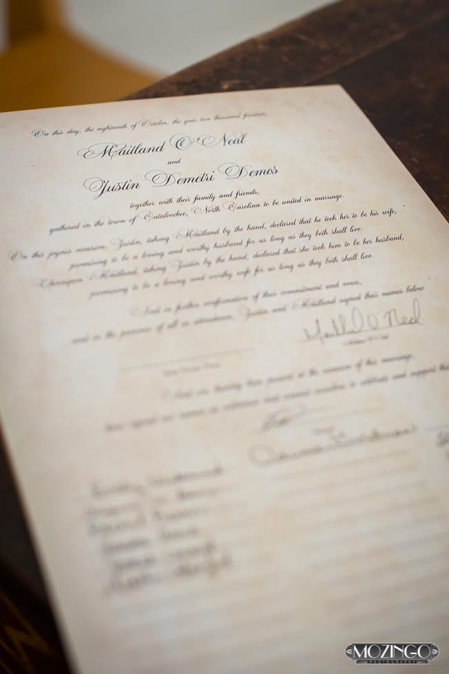 Sable and Gray Custom Marriage Certificate