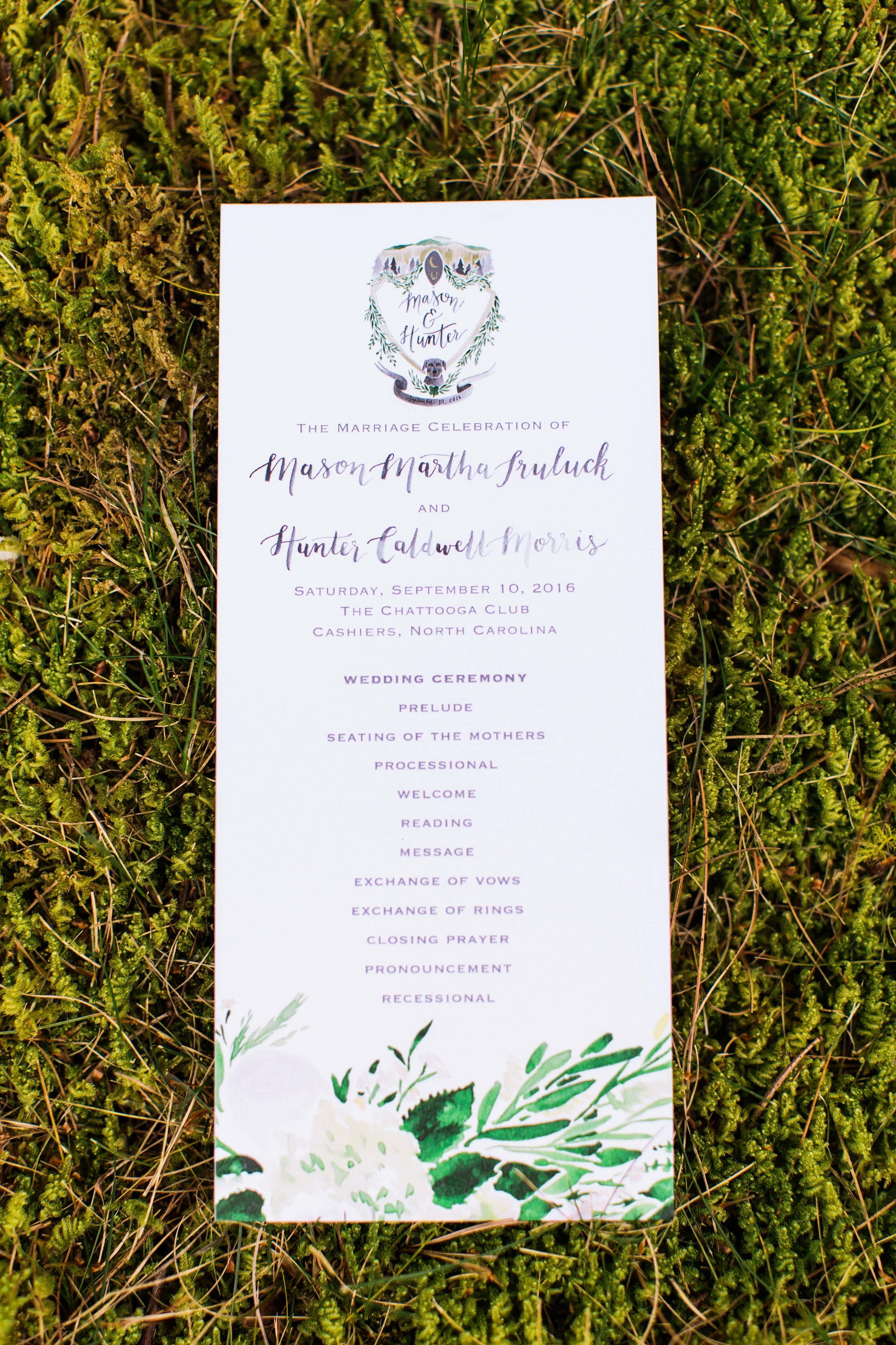 Sable and Gray - Custom Wedding Program