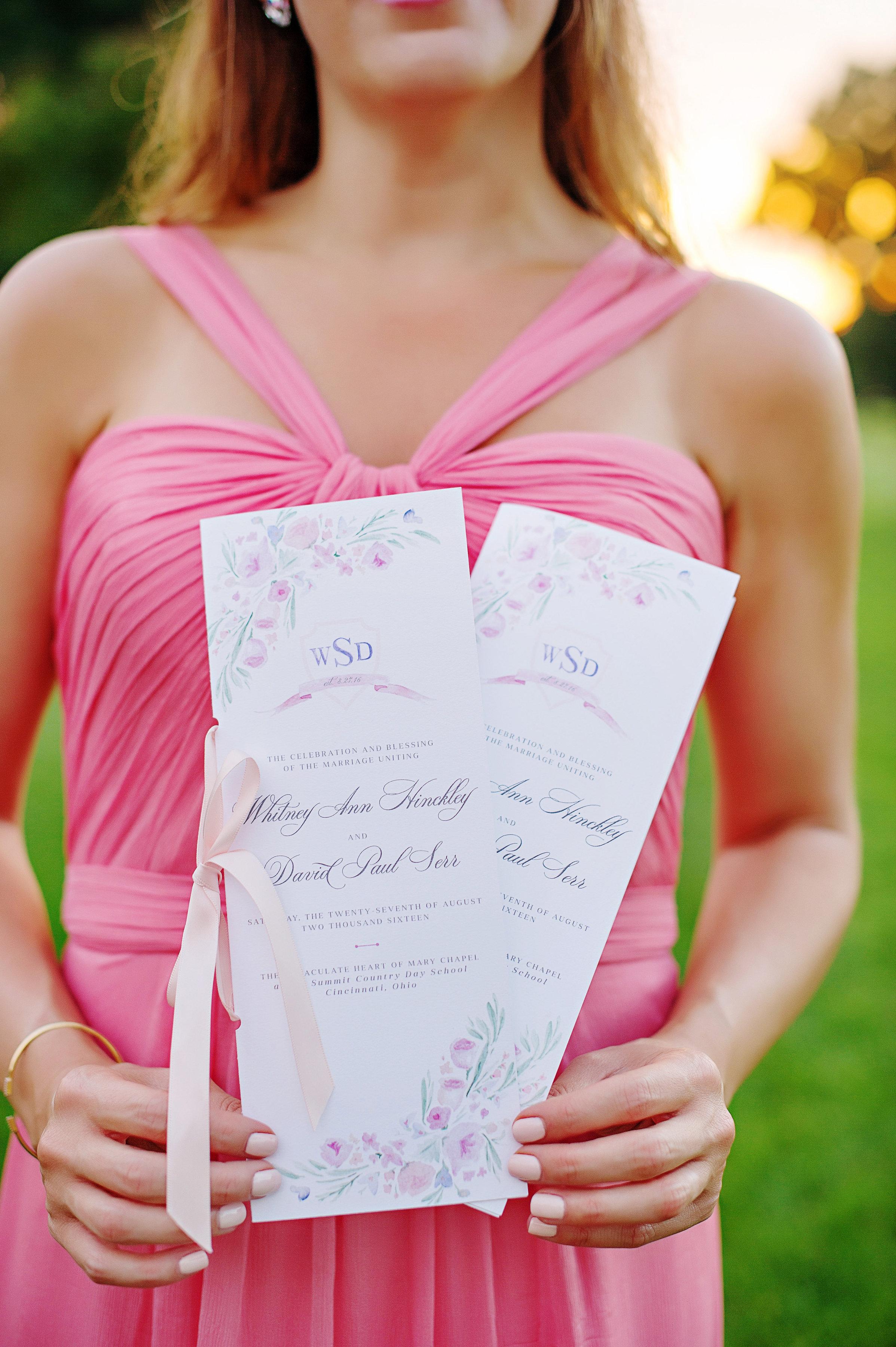 Custom Wedding Program by  Sable and Gray