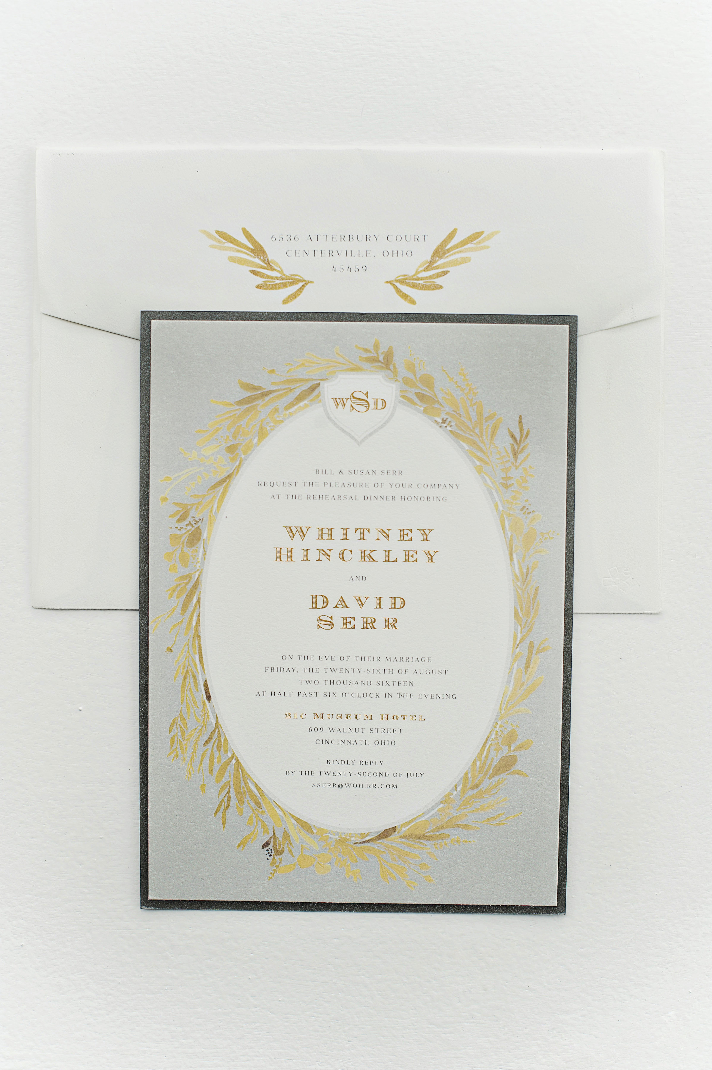 Custom Rehearsal Dinner Invitations by Sable and Gray