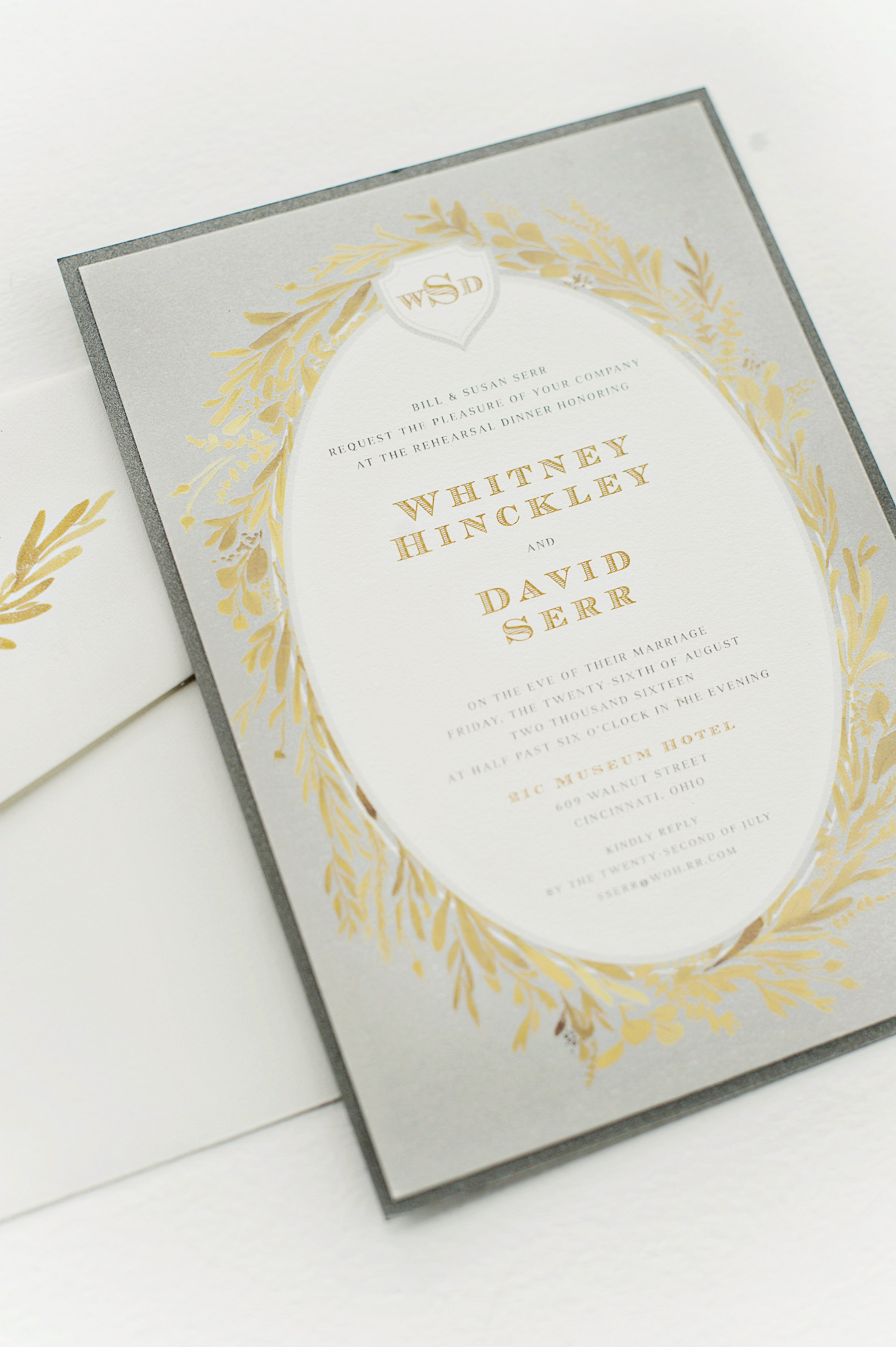 Custom Rehearsal Dinner Invitation by Sable and Gray