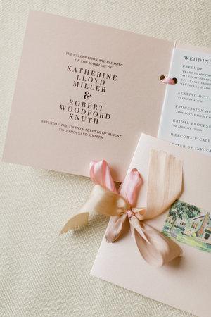 Custom Blush Wedding Program by Sable & Gray