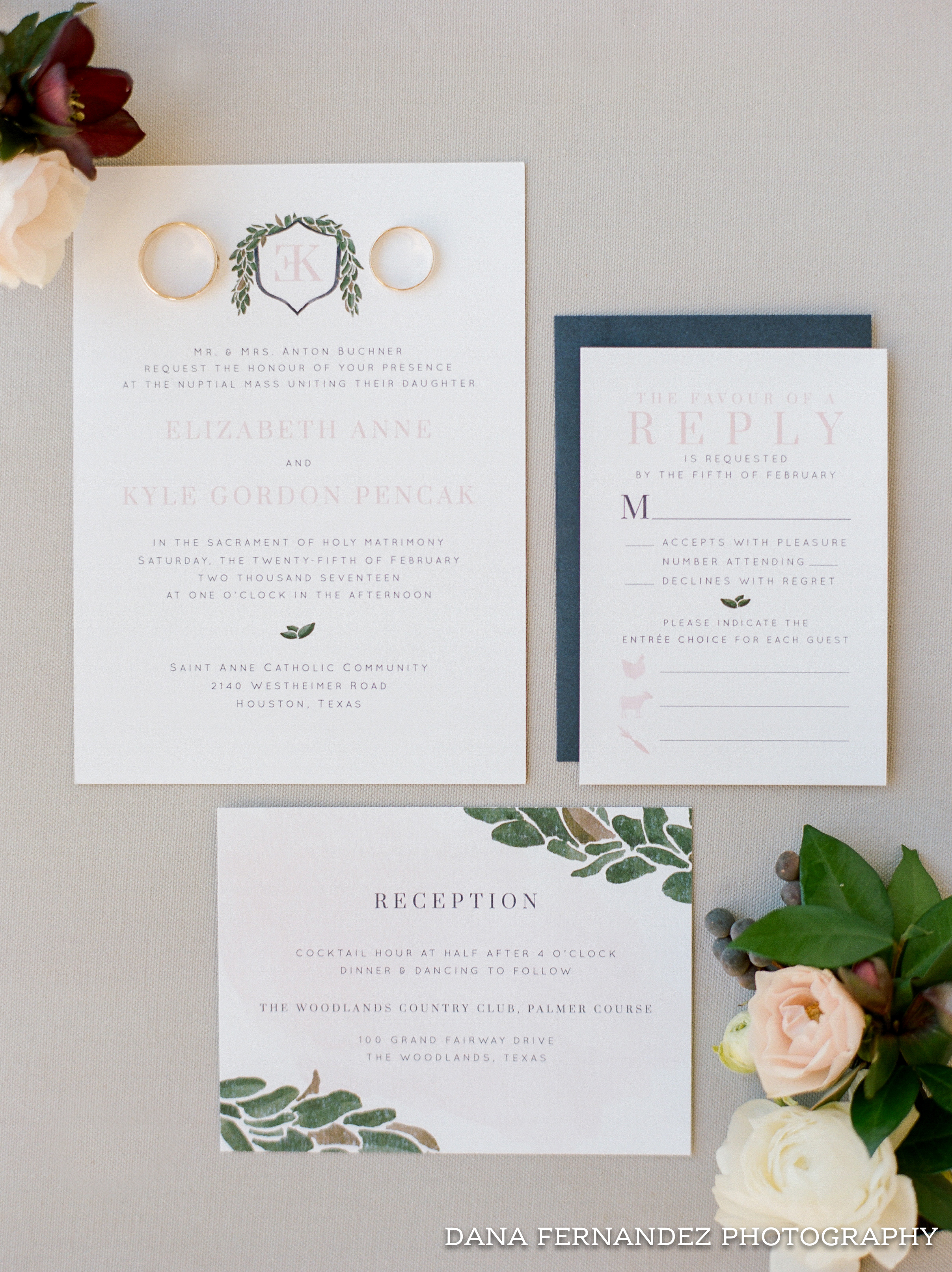 Sable and Gray Custom Wedding Invitation Suite