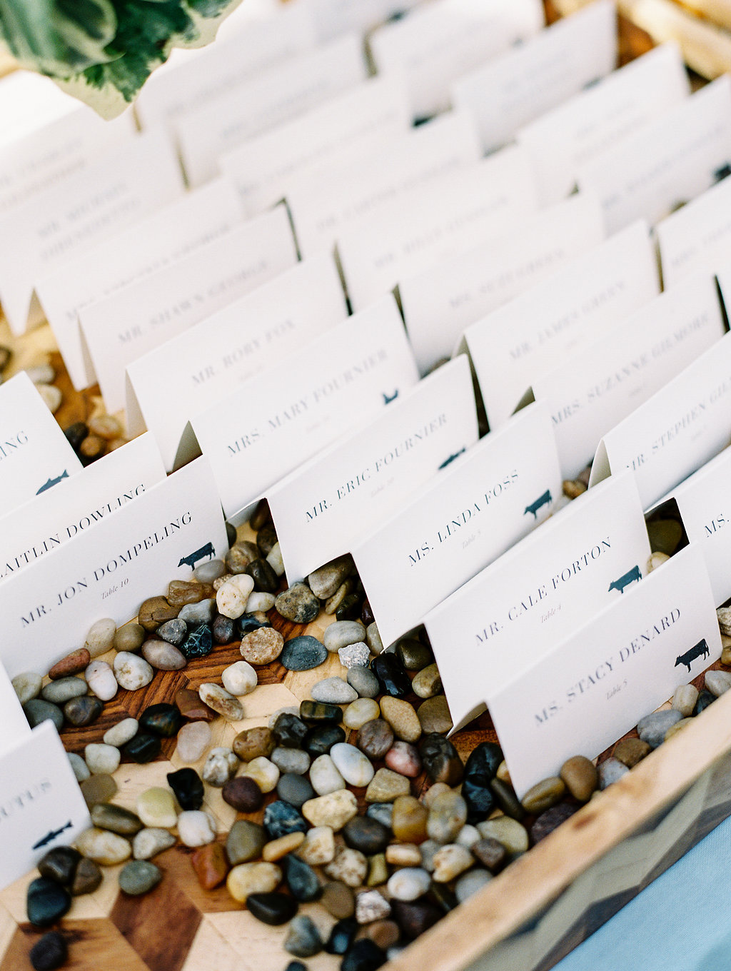 Custom Wedding Escort Cards by Sable & Gray