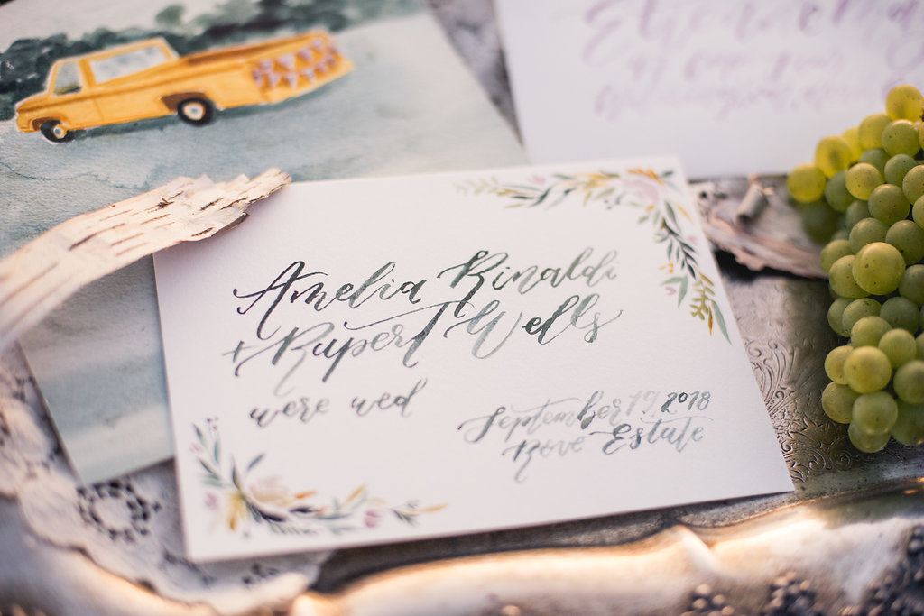 Sable and Gray Custom Wedding Invitation