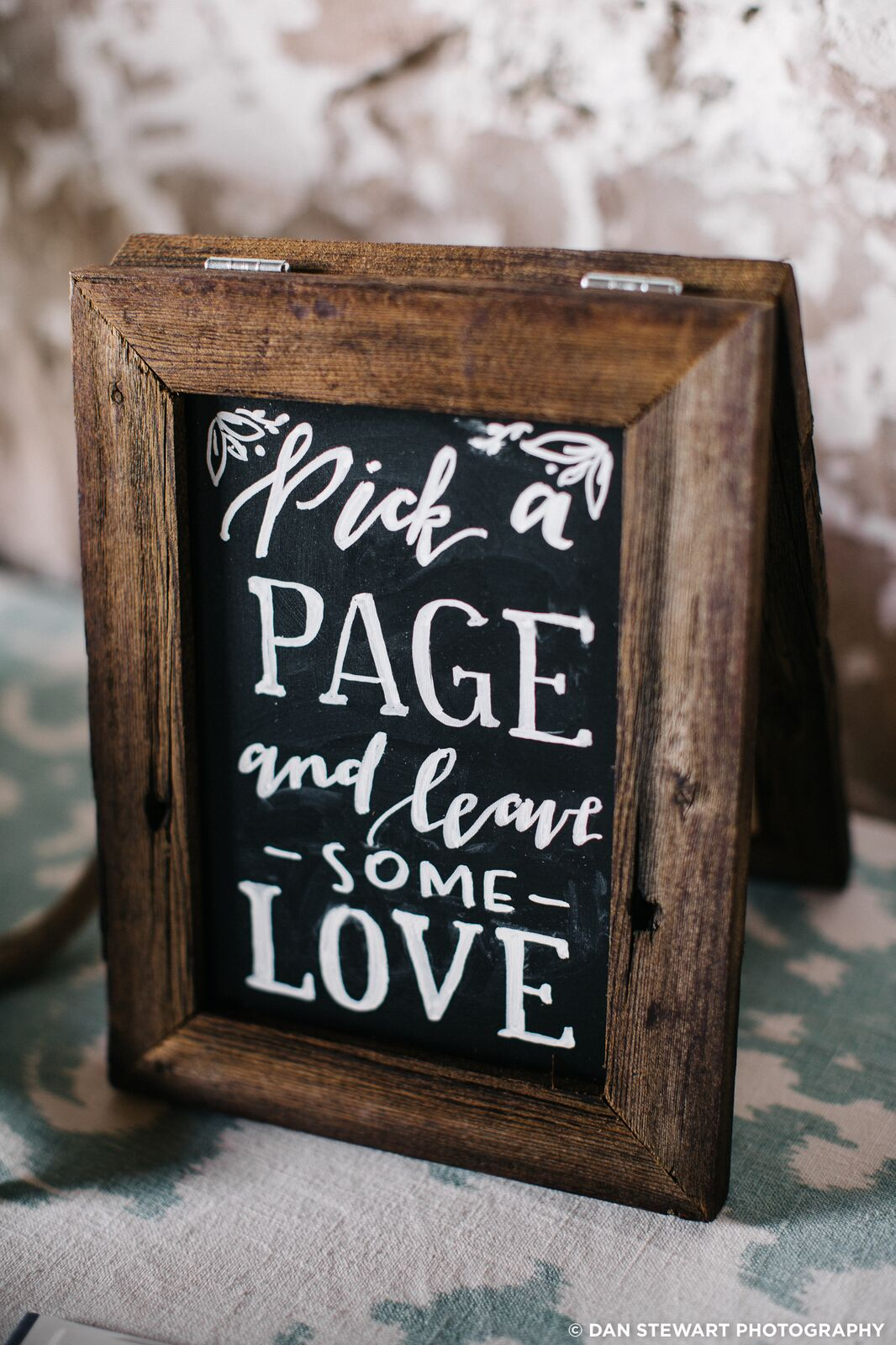custom hand painted wedding chalk board sign by sable and gray