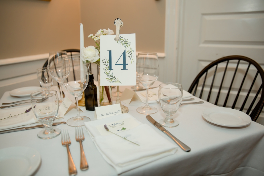 custom wedding table numbers by sable and gray