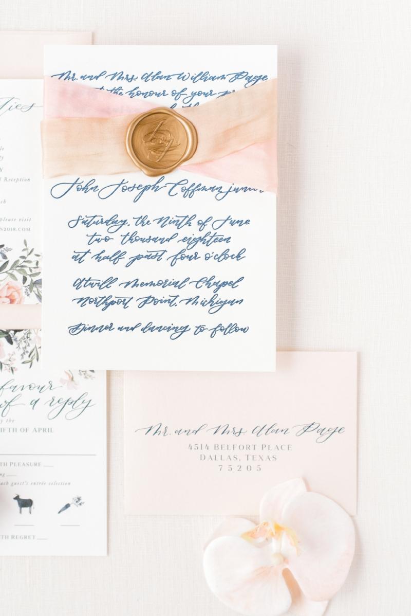 custom wedding invitations by sable & gray