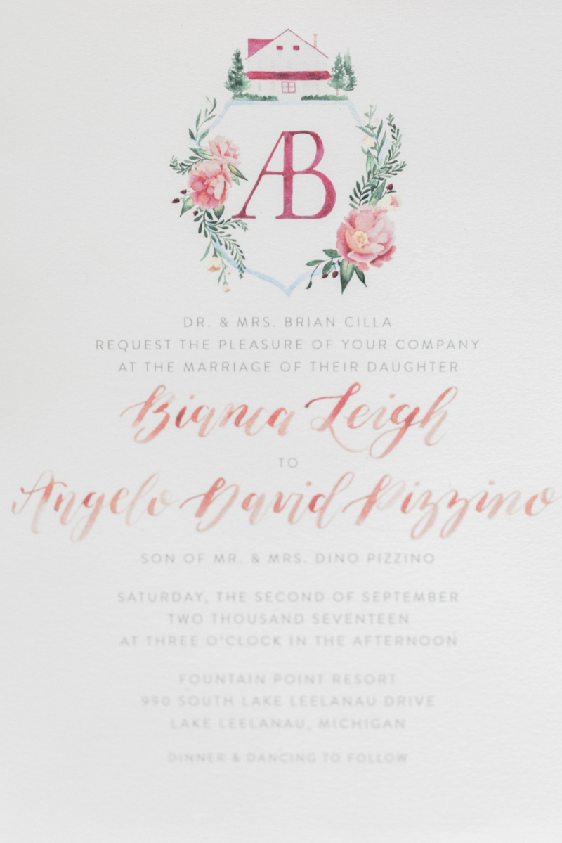 Custom Acrylic Wedding Invitations by Sable & Gray