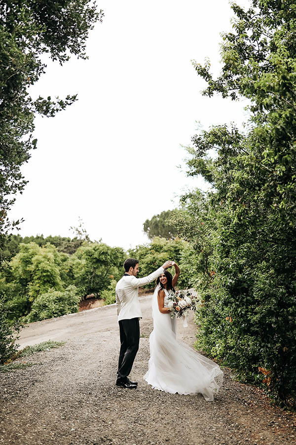 Mallary & Mark on their wedding day | custom wedding invitation suite