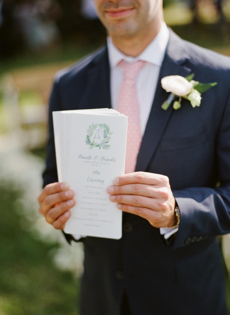 custom wedding programs by sable and gray