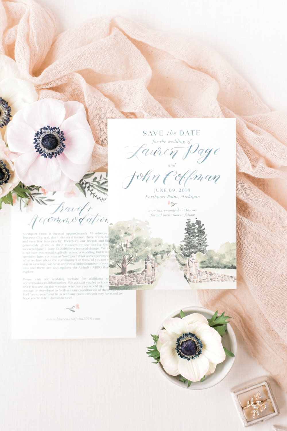 custom wedding save the date suite by sable and gray