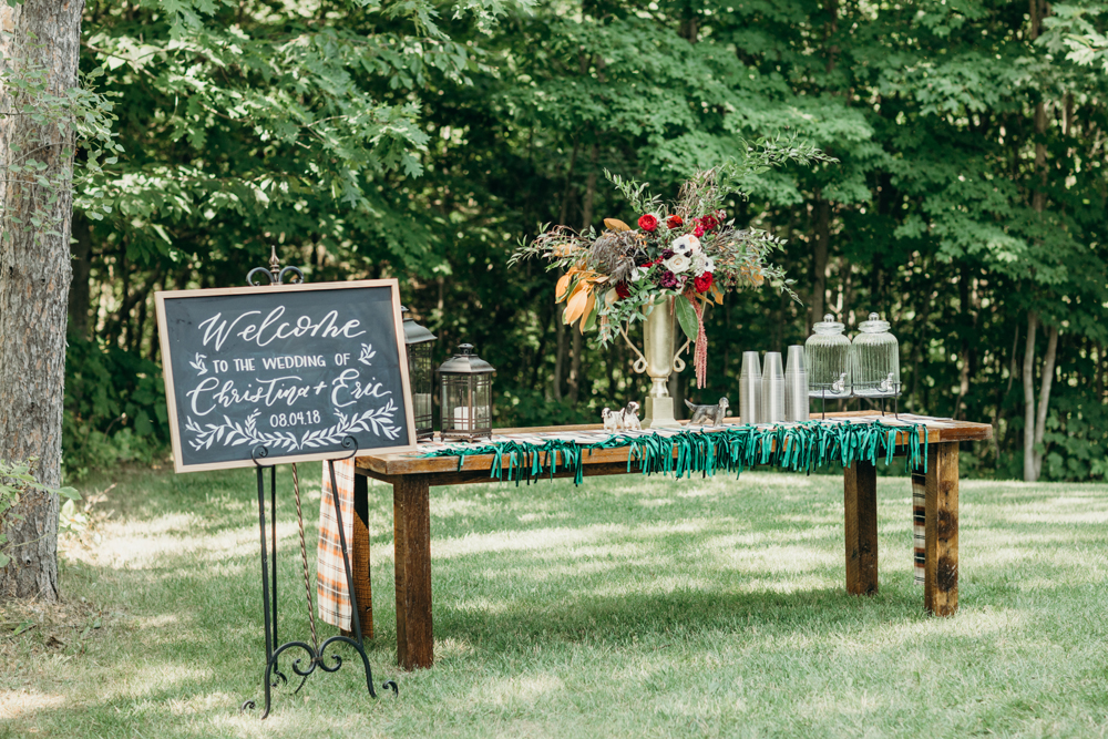 custom hand painted wedding sign by sable and gray