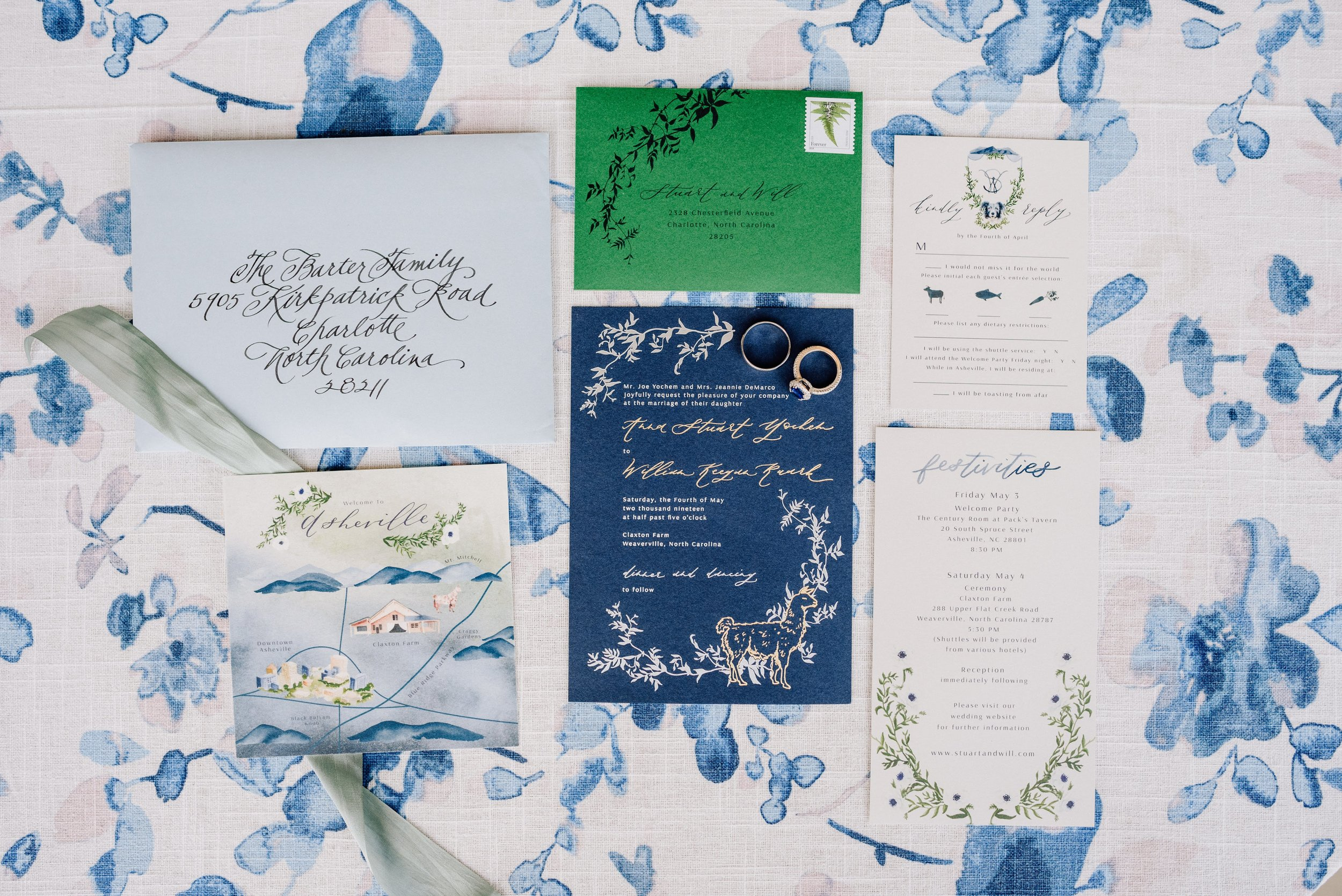 Custom Invitation Suite by Sable and Gray