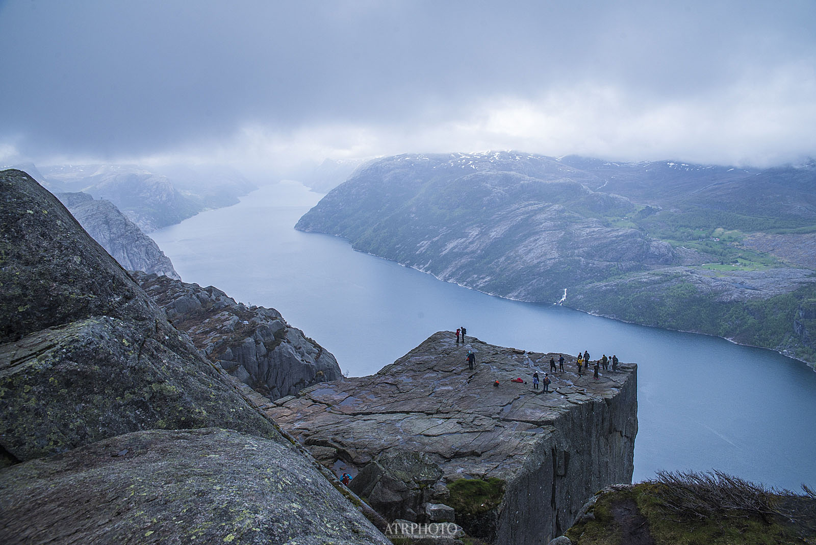 Preikestolen, Pulpit Rock from Above.