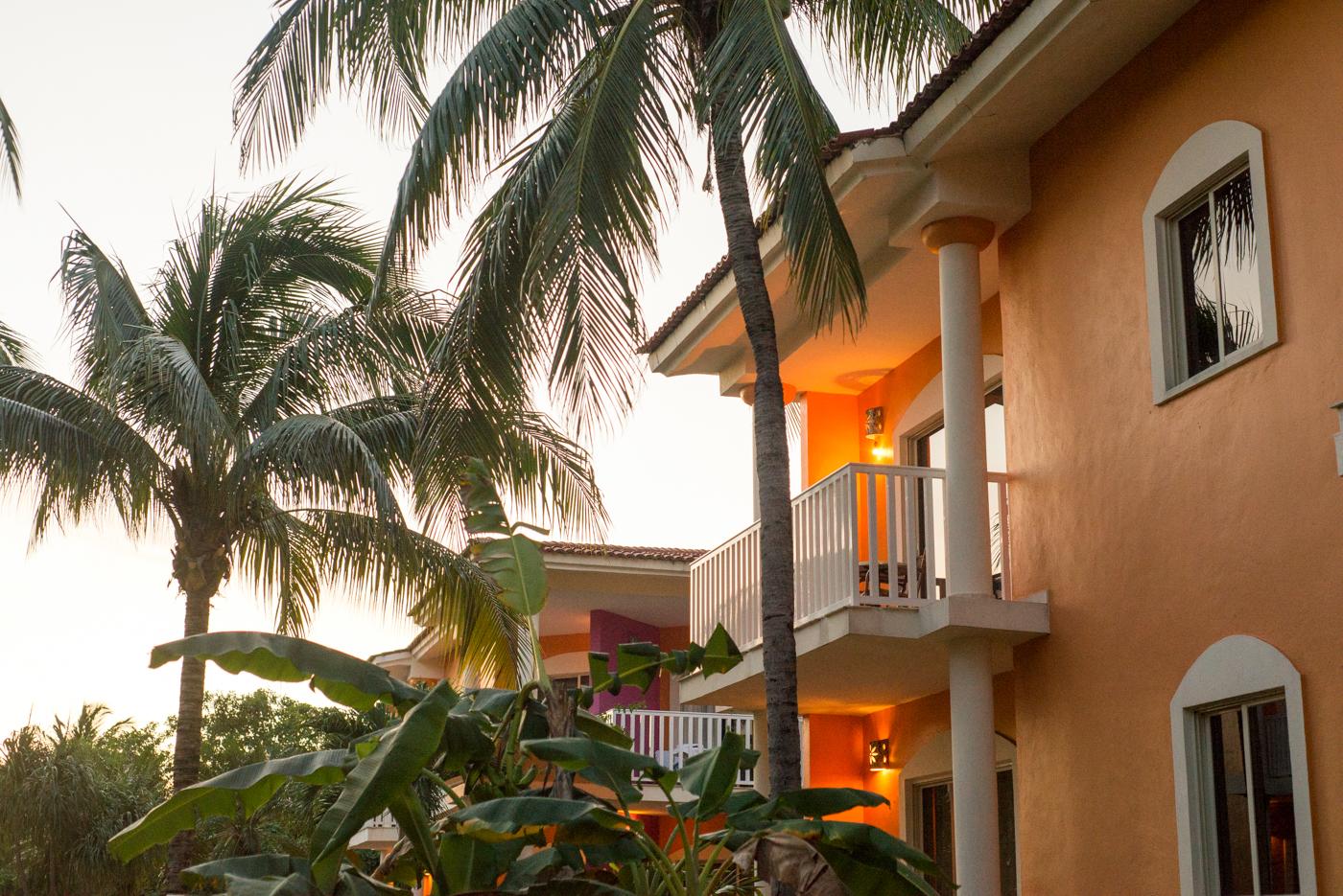 Each guest had their own villa.