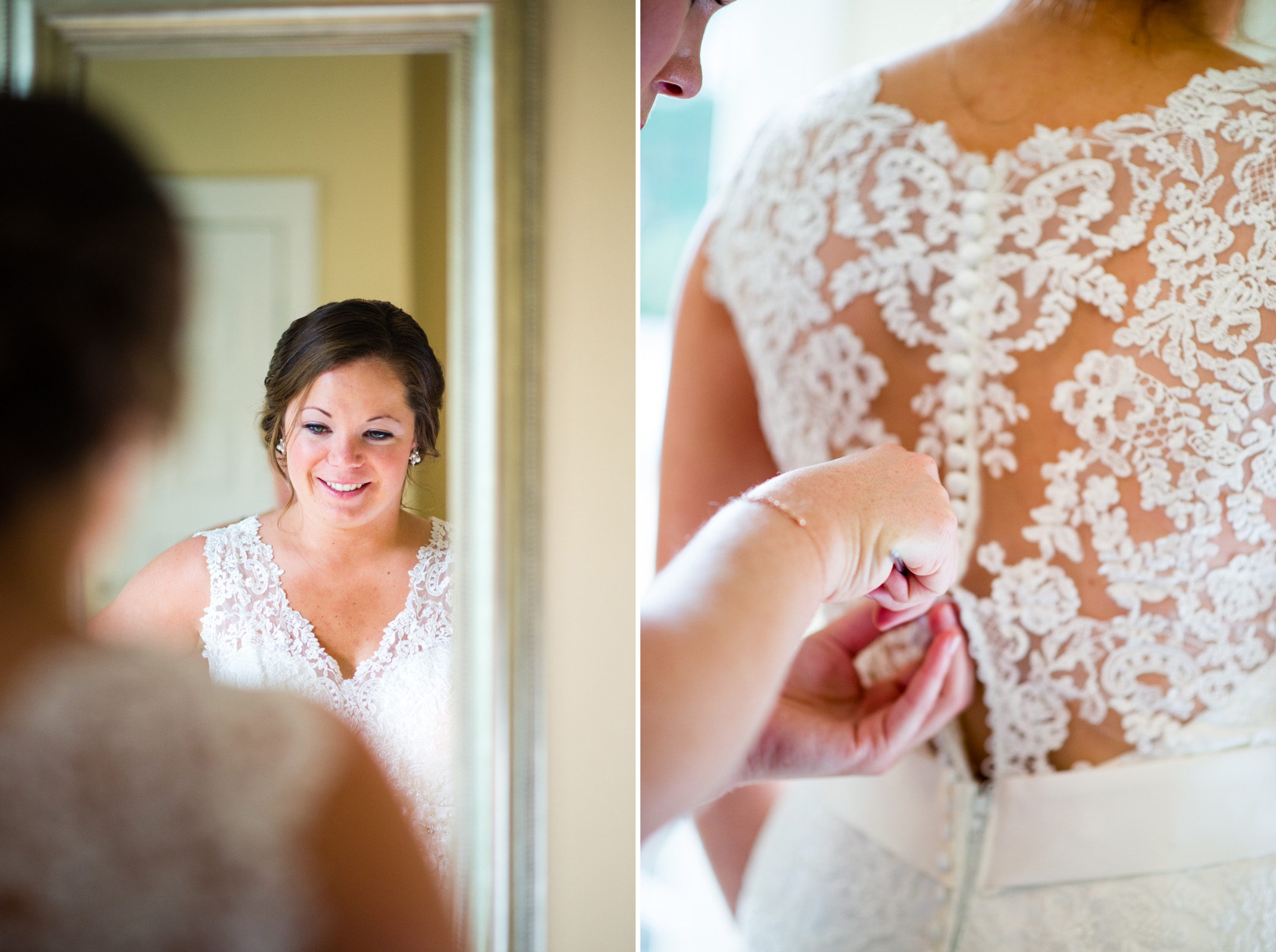 The lacing on Molly's dress was beautiful!