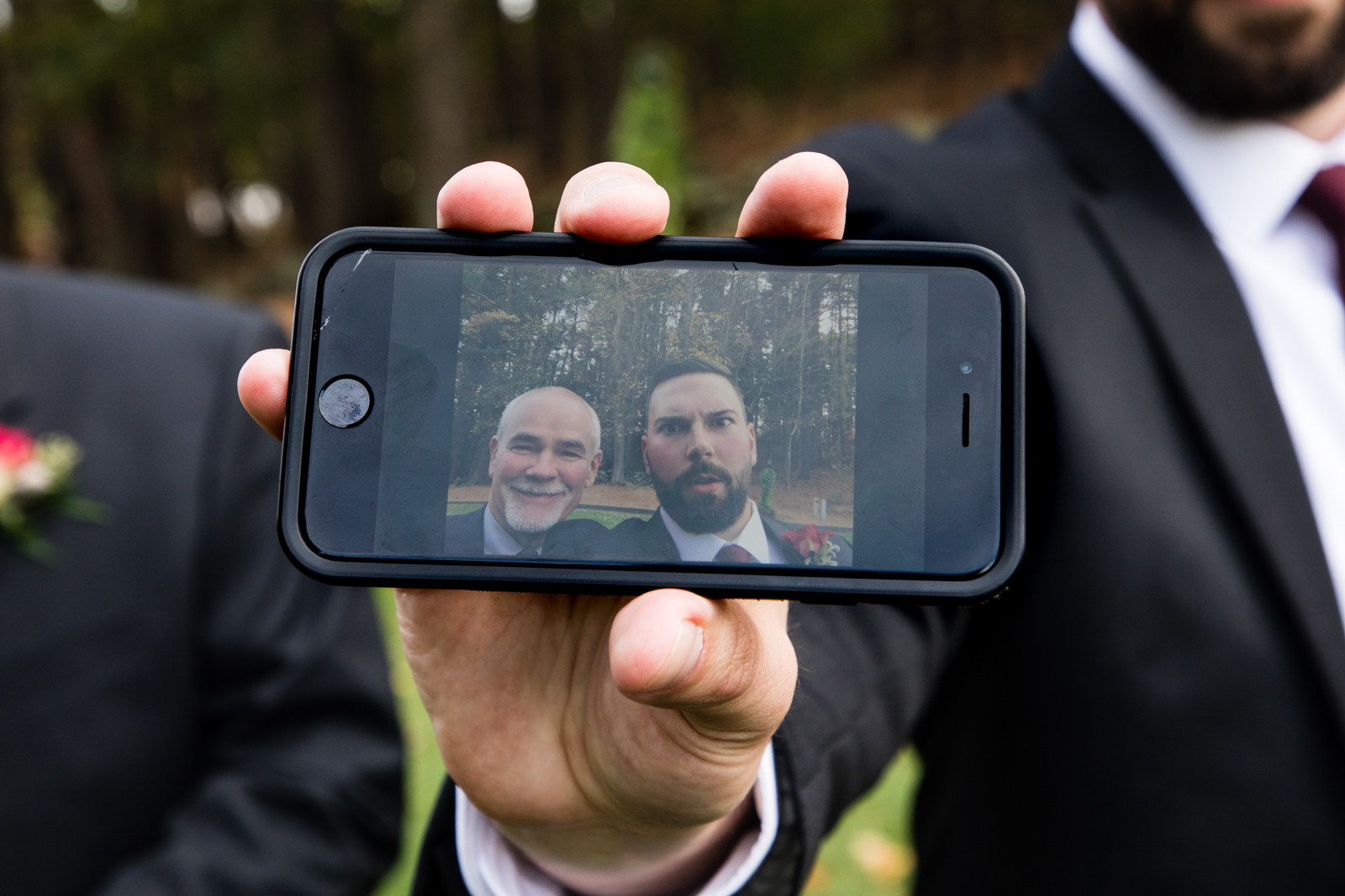 My second shooter really captured the silliness of the groomsmen! Love the selfies shots.
