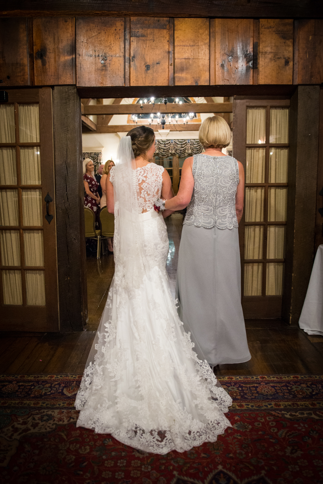 Getting ready to walk down the aisle