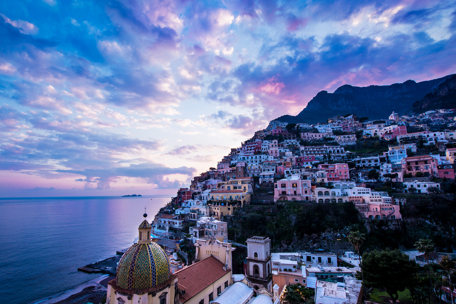 The classic perspective of Positano.