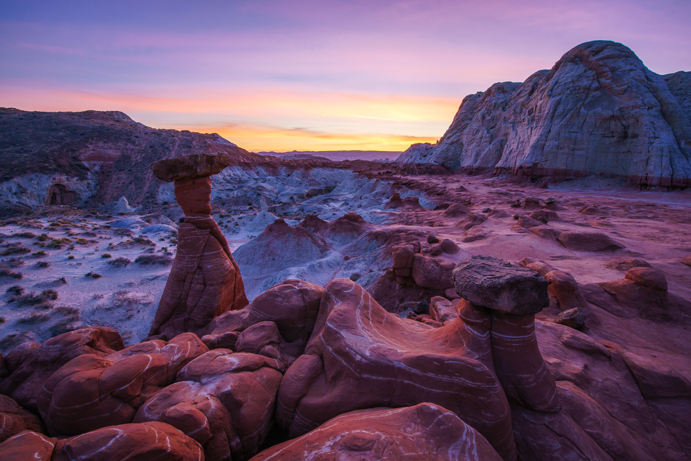 The Toadstools at sunset Ⓒ Paul Nguyen