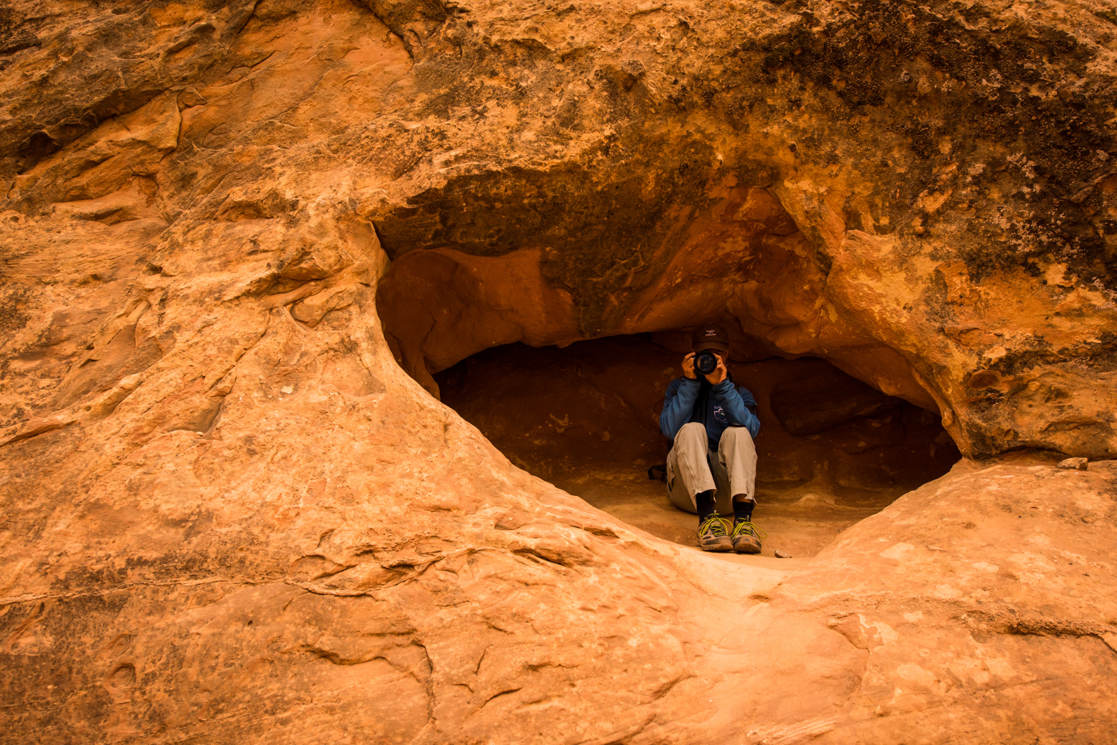 Paul in Cave.JPG