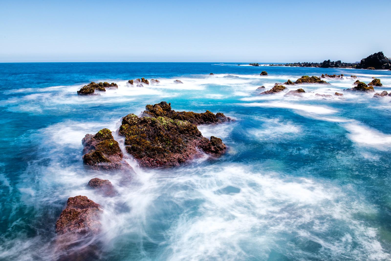 Lava Rocks on the Ocean