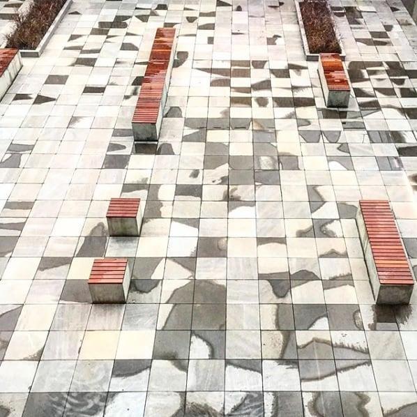 Bancos Cubo. #delazzarimu #design #mobiliariourbano #urbanfurniture #concreto