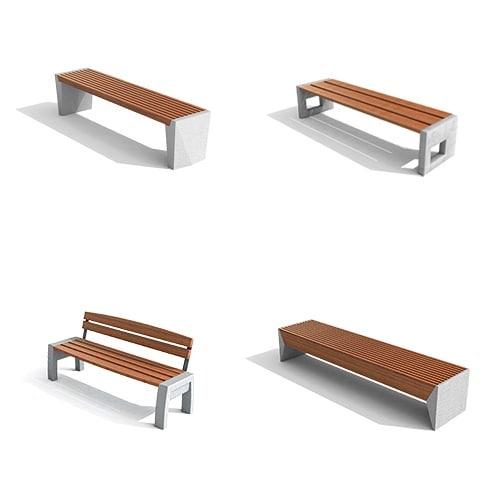 Alguns de nossos bancos que aliam a resistência do concreto com o aconchego da madeira. #delazzarimu #design #urbanfurniture #bench #concreto