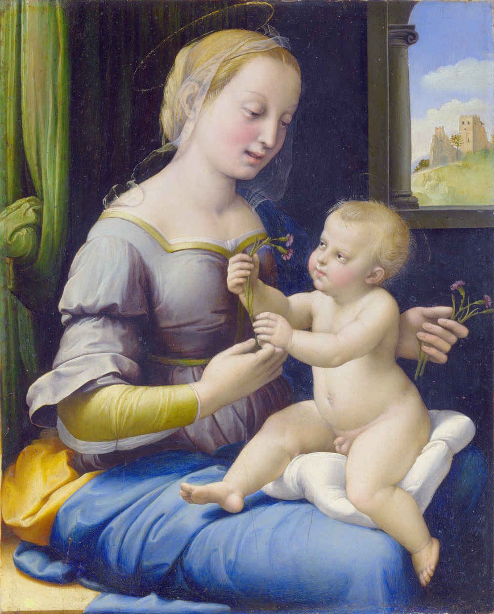 Artist Raphael Year c. 1506–1507 Type oil on yew Dimensions 27.9 cm × 22.4 cm (11.0 in × 8.8 in) Location National Gallery, London