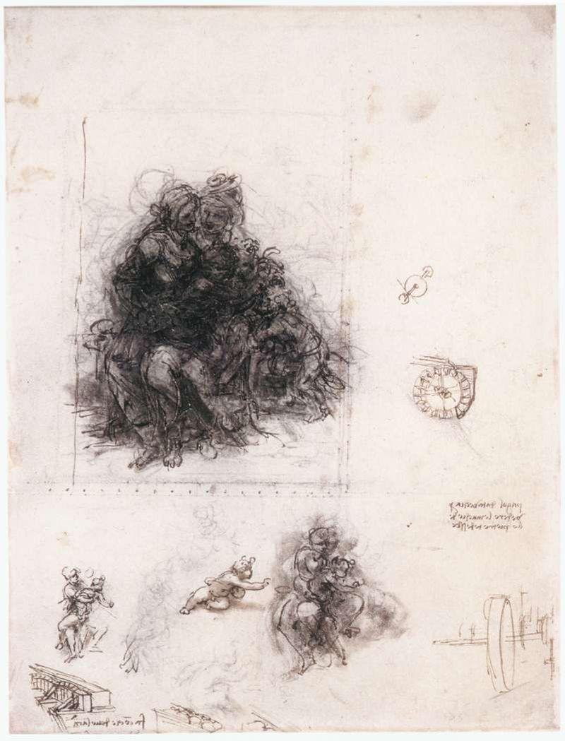 Preparatory drawing in the  British Museum  , London