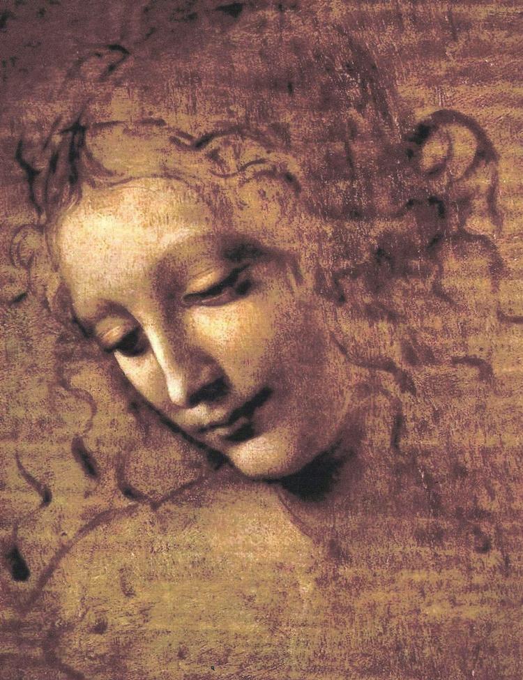 La Scapigliata  c. 1508  Oil on canvas  24.7 cm × 21 cm (9.7 in × 8.3 in)  Galleria nazionale di Parma