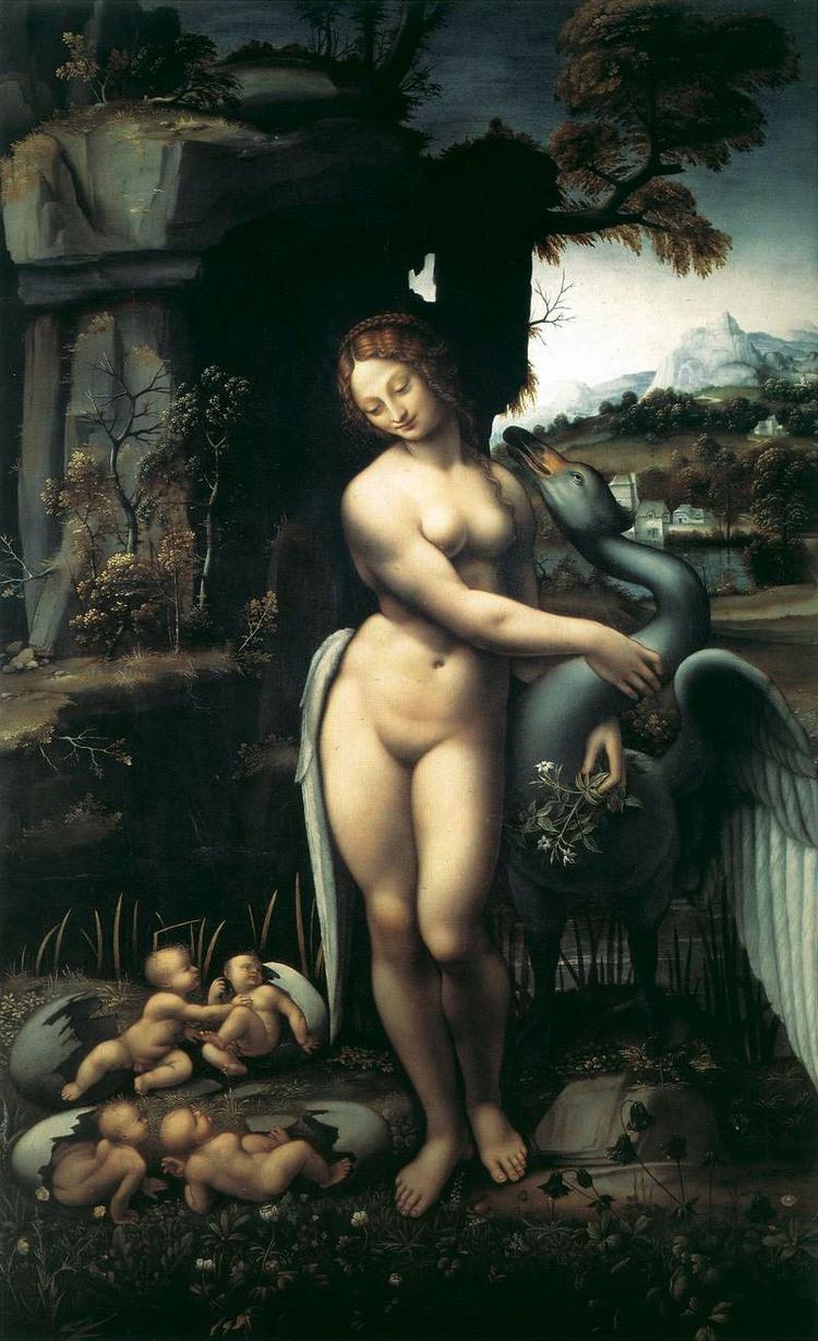 Francesco Melzi  Spiridon Leda  Francesco Melzi,  c. 1515.  Galleria degli Uffizi, Florence