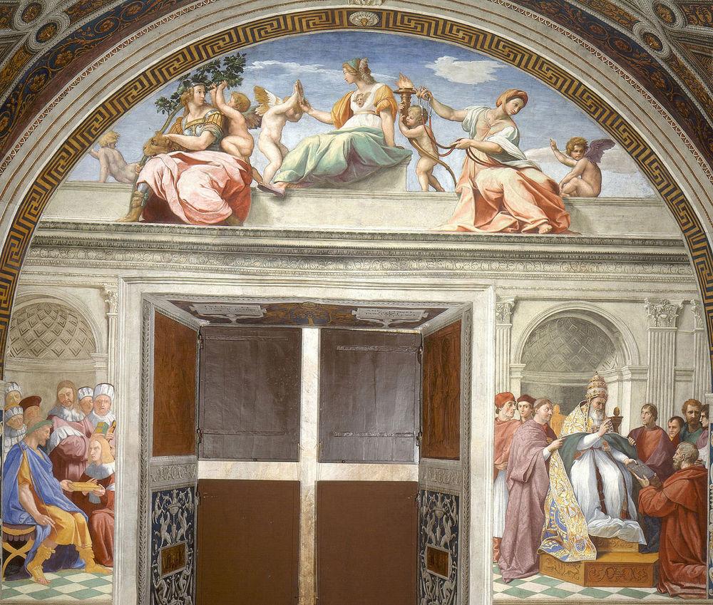 Rafael_-_Virtudes_Teologales_y_la_Ley_(Estancia_del_Sello,_Vaticano,_1511).jpg