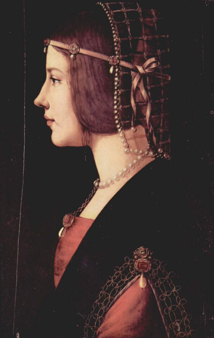 Portrait of a Lady - Ambrogio de Predis (possibly with Leonardo)