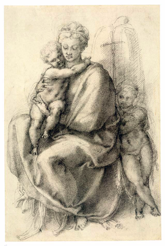 Michelangelo Buonarroti - Sketch - Madonna and Child with the Infant St John.jpg
