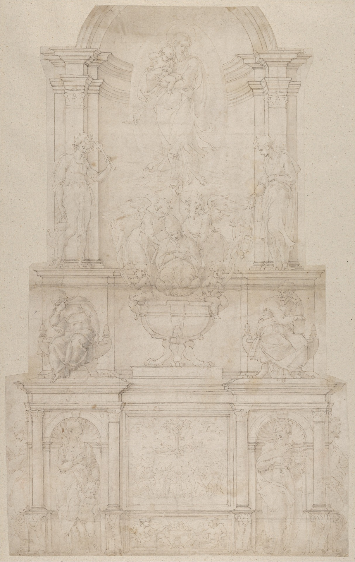 Design for the Tomb of Pope Julius II della Rovere  Michelangelo Buonarroti  1505–6