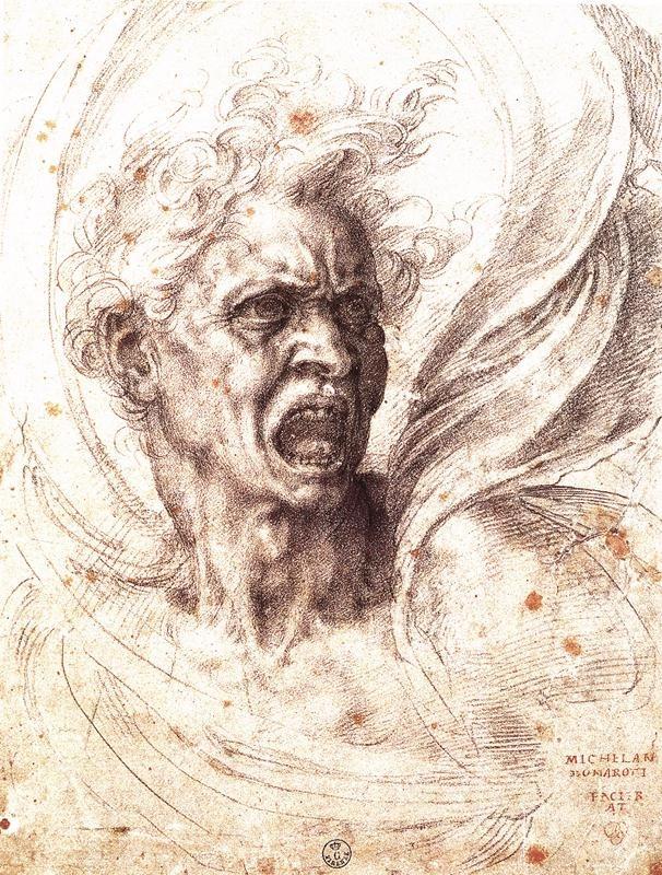Michelangelo Buonarroti - sketch - damned.jpg