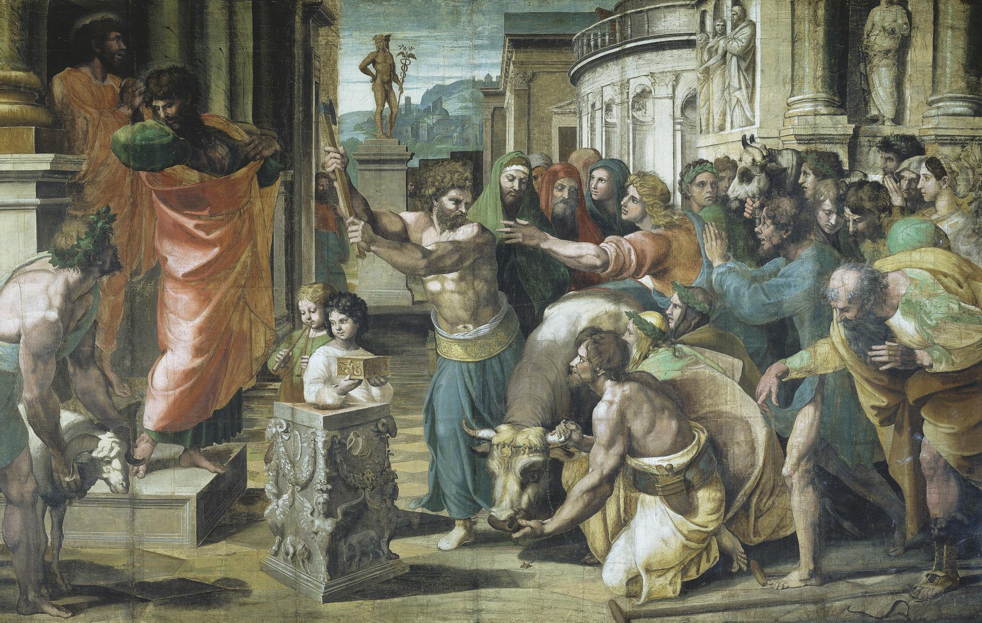 Raphael-Urbino---Painting---The Sacrifice at Lystra.jpg