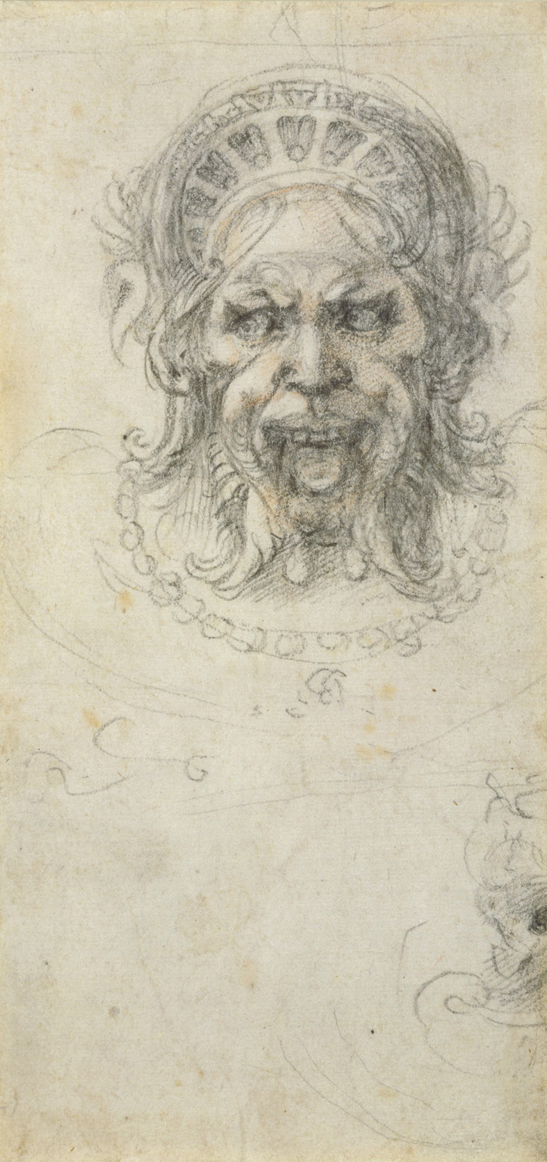 Michelangelo Buonarroti -Drawing -Grotesque head R.jpg