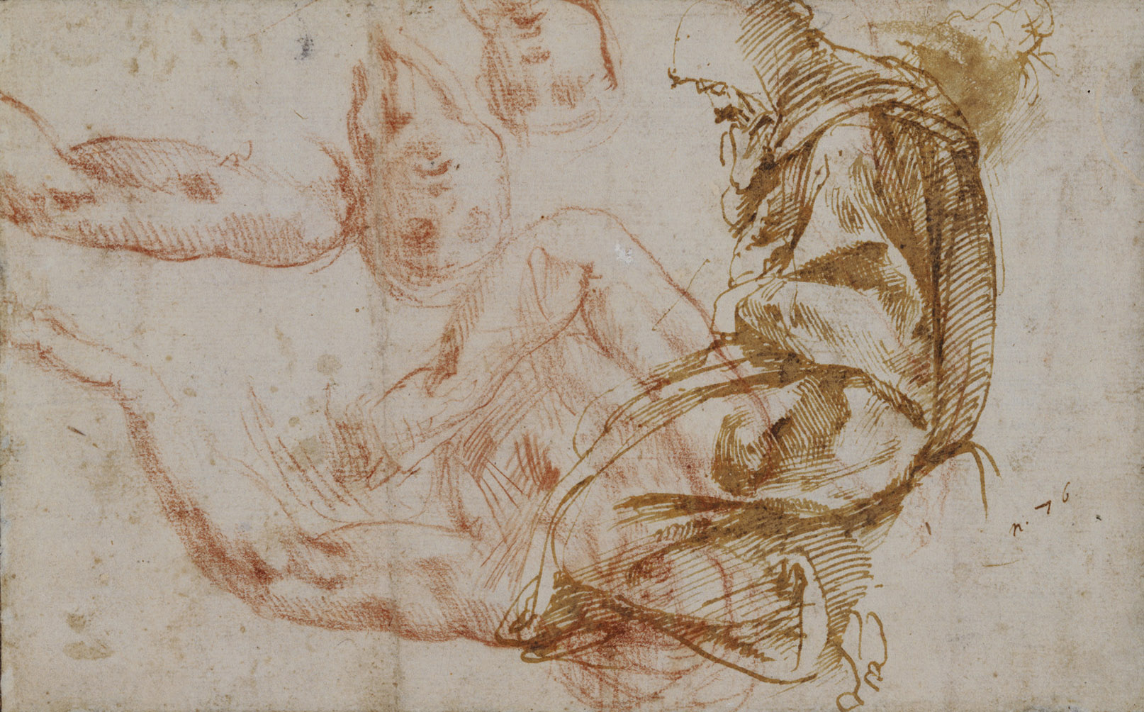 Michelangelo Buonarroti -Drawing -kneeling figure.jpg