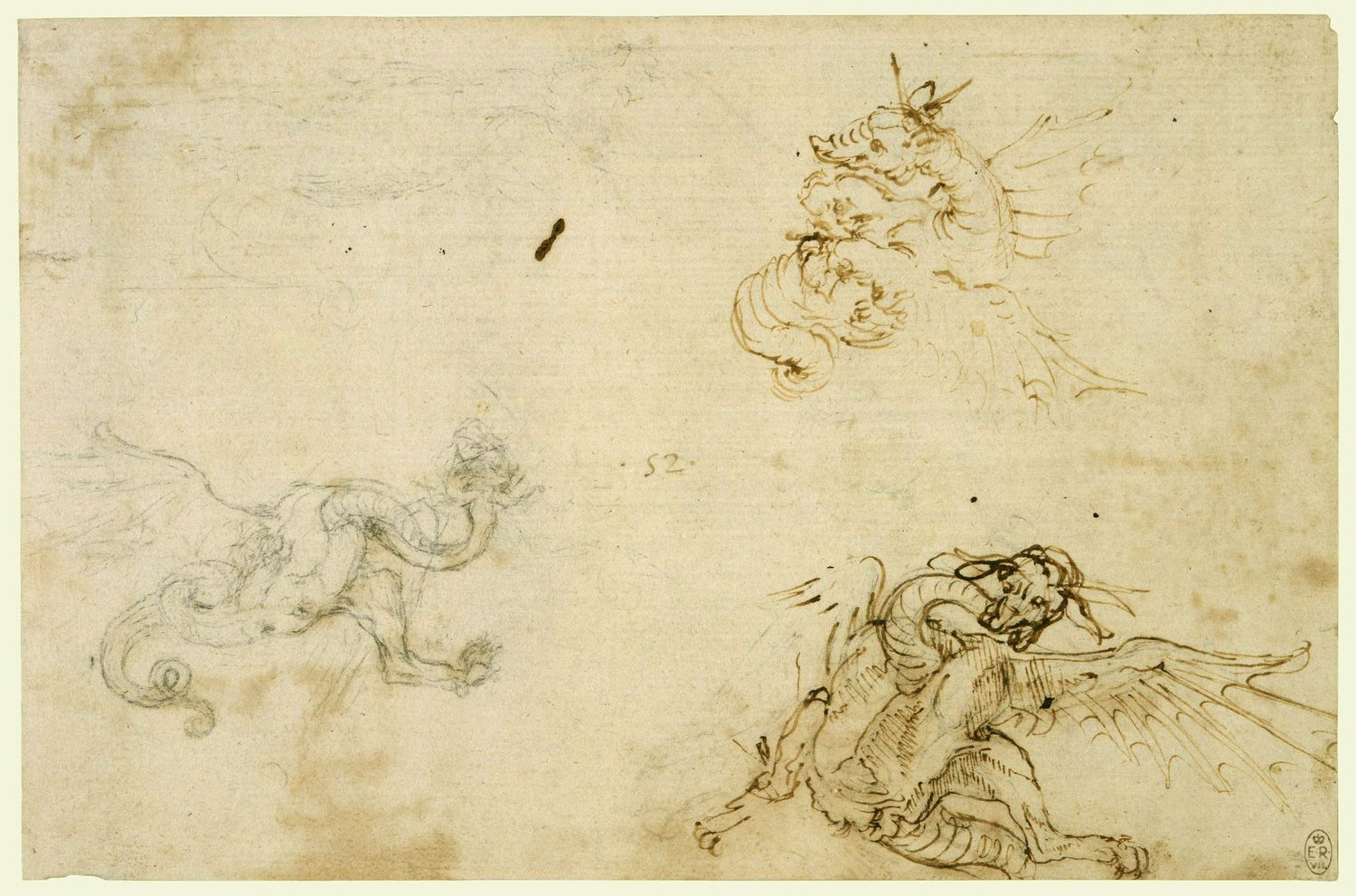 Leonardo da Vinci - Drawings - Animals - Dragons.jpg