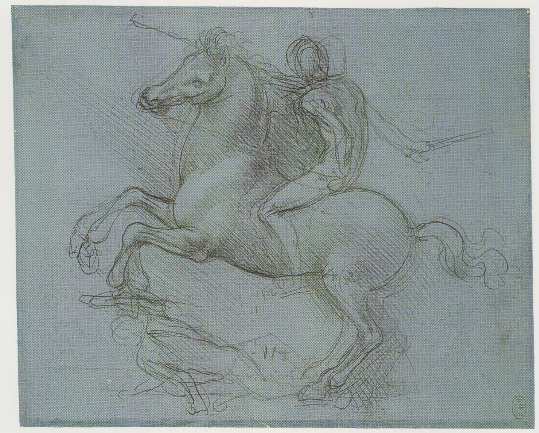 Sketch of the Casting pit for the Sforza horse seen from the side 1493.jpg