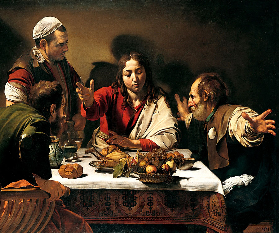 The Supper at Emmaus - 1601 by: Carvaggio
