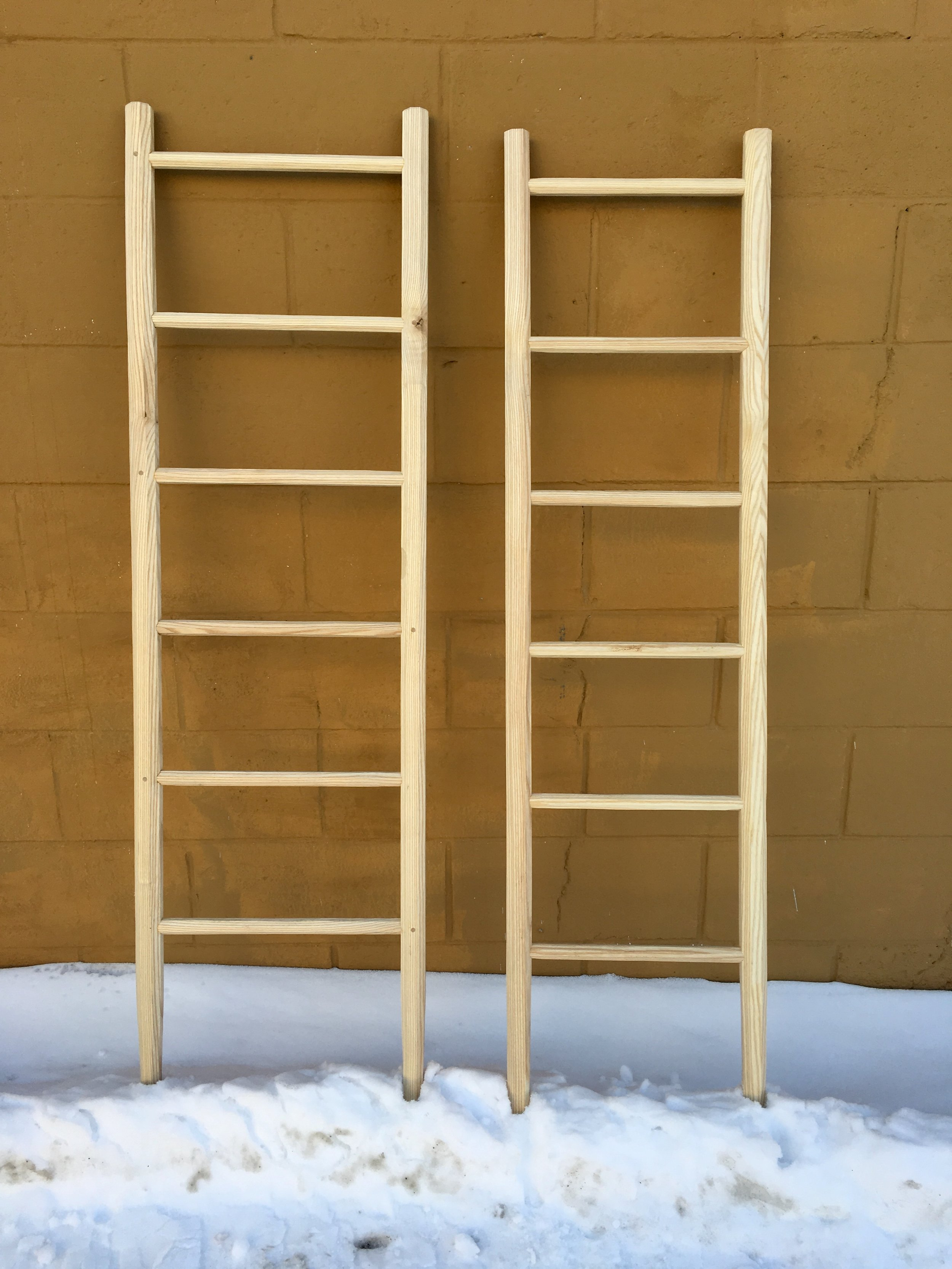 Ash ladders made in collaboration with Skyler Hawkins, 2019.