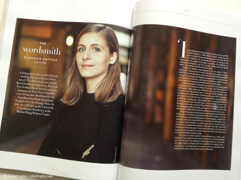 Eleanor Catton in The Denizen magazine