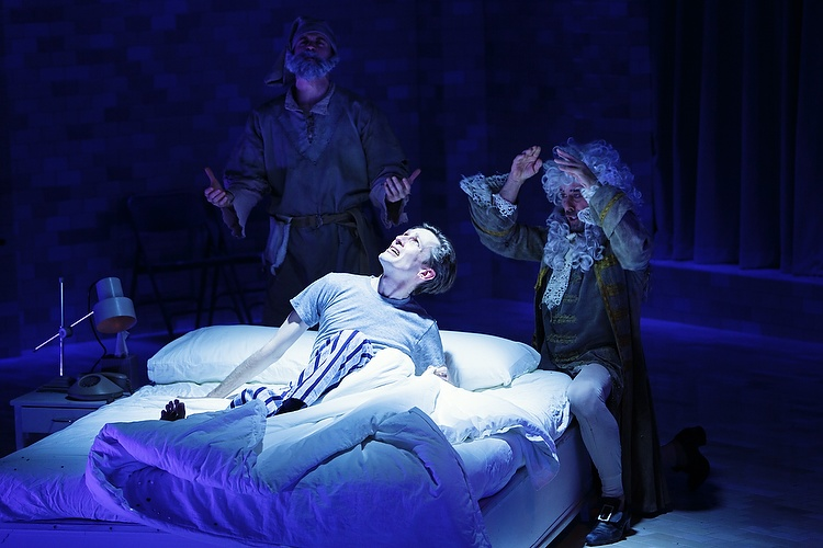 Luke Mullins as Prior Walter with the ghost of prior Priors