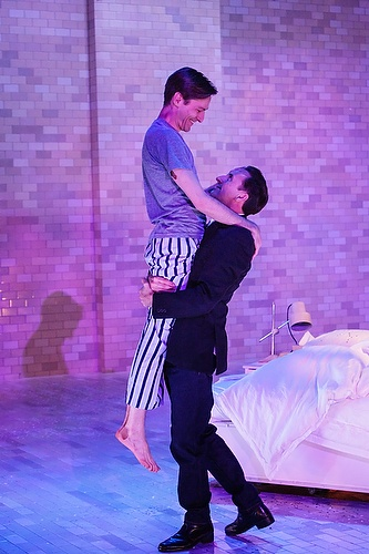 Luke Mullins as Prior Walter with Mitchell Butel as Louis Ironson