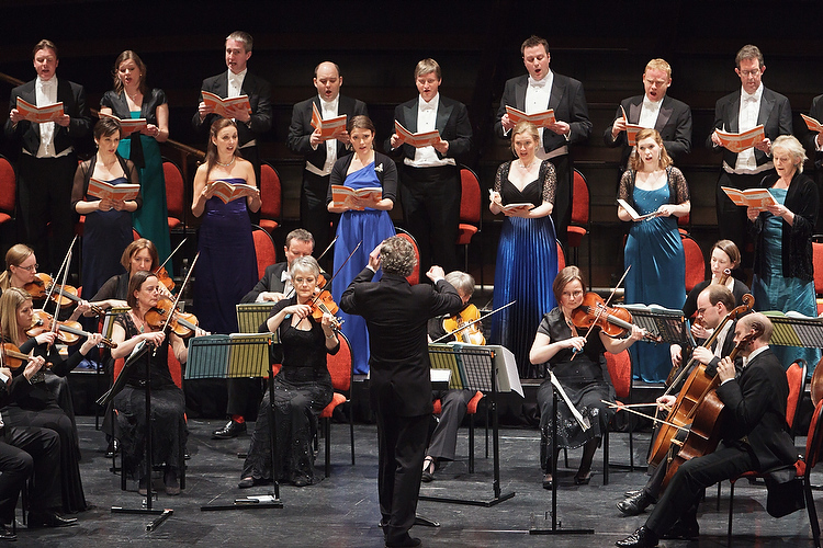 The Sixteen choir and orchestra,at the New Zealand International Arts Festival.